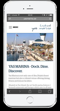 Web YAS Landing Page